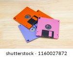 a floppy disk also called a... | Shutterstock . vector #1160027872