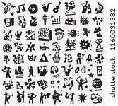music doodle set  | Shutterstock .eps vector #1160031382