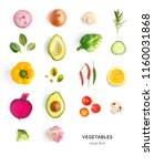 creative layout made of avocado ... | Shutterstock . vector #1160031868