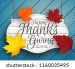 thanksgiving vector background... | Shutterstock .eps vector #1160035495