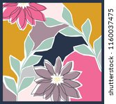 flower painting scarf pattern... | Shutterstock .eps vector #1160037475