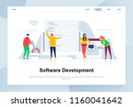 software development modern... | Shutterstock .eps vector #1160041642