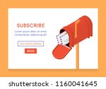 online newsletter template.... | Shutterstock .eps vector #1160041645