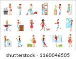 happy modern housewives... | Shutterstock .eps vector #1160046505
