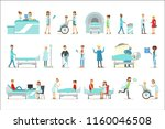 injured and sick patients in... | Shutterstock .eps vector #1160046508