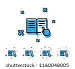 instruction book line icon.... | Shutterstock .eps vector #1160048005