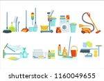 cleaning household equipment... | Shutterstock .eps vector #1160049655