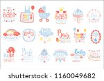 baby shower invitation template ... | Shutterstock .eps vector #1160049682