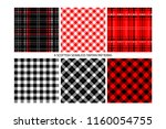 lumberjack tartan and buffalo... | Shutterstock .eps vector #1160054755