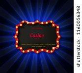 retro light sign. vintage style ...   Shutterstock .eps vector #1160056348