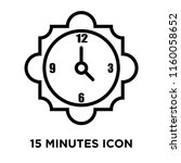 15 minutes icon vector isolated ... | Shutterstock .eps vector #1160058652