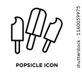 popsicle icon vector isolated... | Shutterstock .eps vector #1160059975
