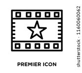 premier icon vector isolated on ... | Shutterstock .eps vector #1160060062