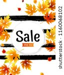 autumn sale background layout ... | Shutterstock .eps vector #1160068102