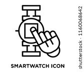 smartwatch icon vector isolated ... | Shutterstock .eps vector #1160068642