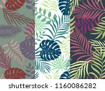 set of three seamless floral... | Shutterstock .eps vector #1160086282