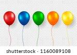 balloon vector. realistic... | Shutterstock .eps vector #1160089108