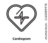 cardiogram icon vector isolated ... | Shutterstock .eps vector #1160089978
