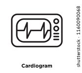 cardiogram icon vector isolated ... | Shutterstock .eps vector #1160090068