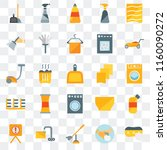 set of 25 transparent icons... | Shutterstock .eps vector #1160090272
