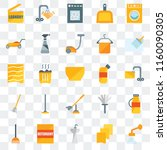 set of 25 transparent icons... | Shutterstock .eps vector #1160090305