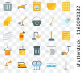 set of 25 transparent icons... | Shutterstock .eps vector #1160090332