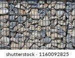 close up view of a steel gabion ... | Shutterstock . vector #1160092825