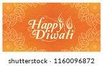 happy diwali celebration card... | Shutterstock .eps vector #1160096872
