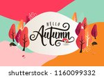autumn calligraphy background... | Shutterstock .eps vector #1160099332