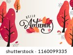 autumn calligraphy. seasonal... | Shutterstock .eps vector #1160099335
