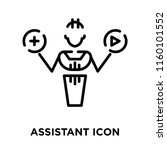assistant icon vector isolated... | Shutterstock .eps vector #1160101552