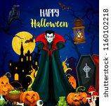 happy halloween holiday... | Shutterstock .eps vector #1160102218