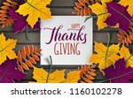 thanksgiving holiday banner ... | Shutterstock .eps vector #1160102278