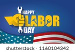 labor day usa text vector label ... | Shutterstock .eps vector #1160104342
