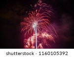 colorful fireworks of various... | Shutterstock . vector #1160105392