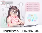 e learning concept with little...   Shutterstock . vector #1160107288