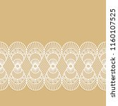 seamless decorative lace border ... | Shutterstock .eps vector #1160107525