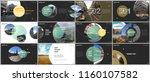 minimal presentations design ... | Shutterstock .eps vector #1160107582