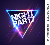 night party poster | Shutterstock .eps vector #1160107825