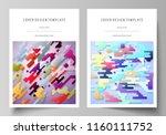business templates for brochure ... | Shutterstock .eps vector #1160111752