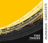grunge tire marks background... | Shutterstock .eps vector #1160113375