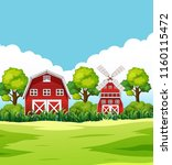 house in rural area illustration | Shutterstock .eps vector #1160115472