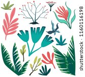 vector set of bright stylized... | Shutterstock .eps vector #1160116198