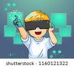 illustration of a kid boy... | Shutterstock .eps vector #1160121322