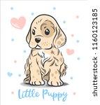 vector illustration of a cute ... | Shutterstock .eps vector #1160123185