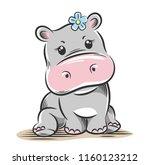 vector illustration of a cute ... | Shutterstock .eps vector #1160123212