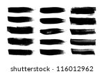 black vector brush strokes... | Shutterstock .eps vector #116012962