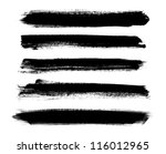 black vector brush strokes... | Shutterstock .eps vector #116012965