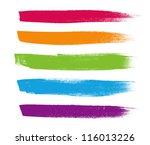 rainbow vector brush strokes... | Shutterstock .eps vector #116013226