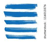 blue vector brush strokes... | Shutterstock .eps vector #116013376